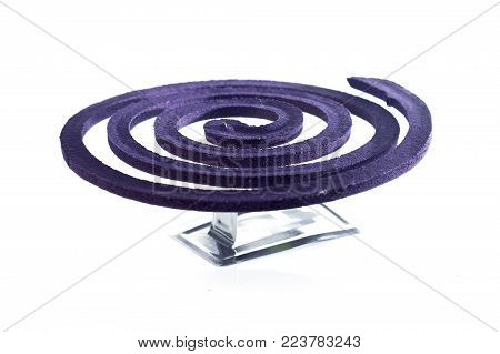 Circle Of Mosquito Repellents On The White Background