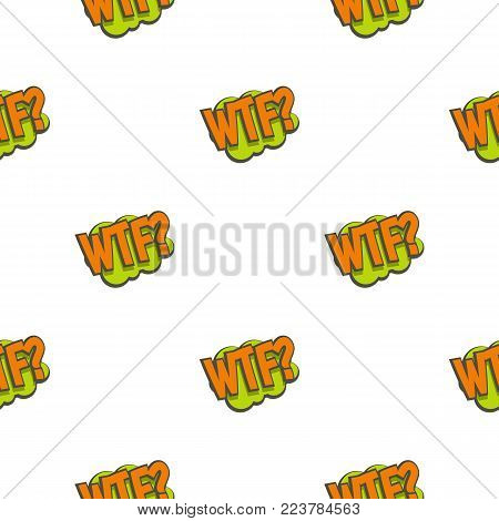 WTF, comic text sound effect pattern seamless for any design vector illustration