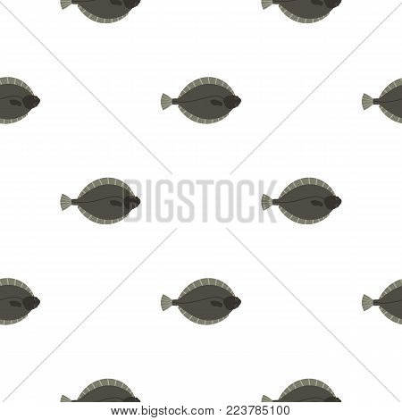 Flounder fish pattern seamless for any design vector illustration