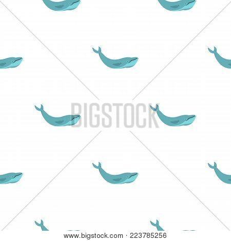 Blue whale pattern seamless for any design vector illustration