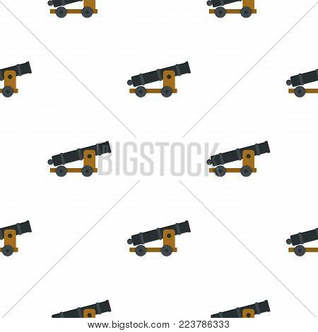 Cannon pattern seamless for any design vector illustration