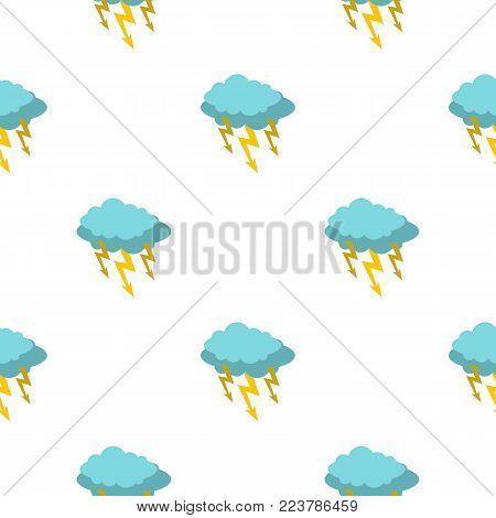 Storm cloud lightning bolt pattern seamless for any design vector illustration