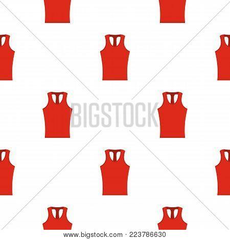 Red sleeveless shirt pattern seamless for any design vector illustration