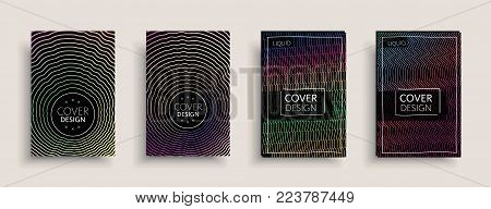 Cover design template, set with abstract fluid colors. Business modern A4 page layout. Colorful vector covers for branding, book, poster, banner, catalog,report,document or any pages.Blank text space