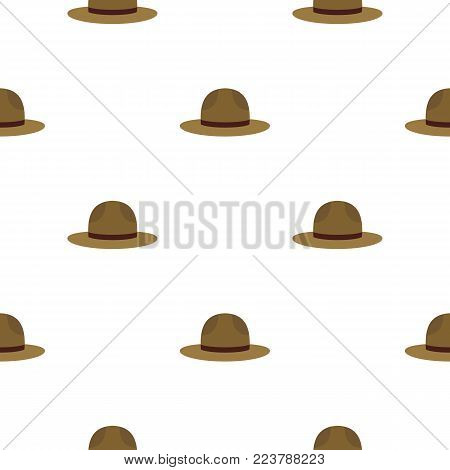 Hat of ficer of the canadian equestrian cavalry pattern seamless for any design vector illustration