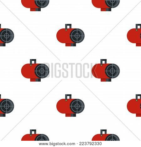 Red industrial electric fan heater pattern seamless for any design vector illustration