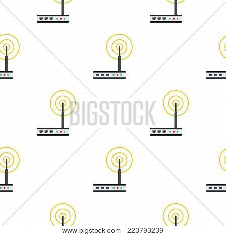 Wifi router pattern seamless for any design vector illustration