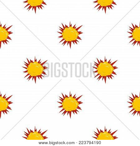 Terrible explosion pattern seamless for any design vector illustration
