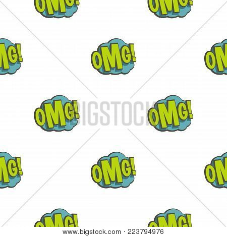 OMG, comic book explosion pattern seamless for any design vector illustration