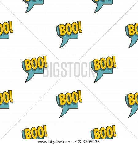 BOO, speech bubble pattern seamless for any design vector illustration