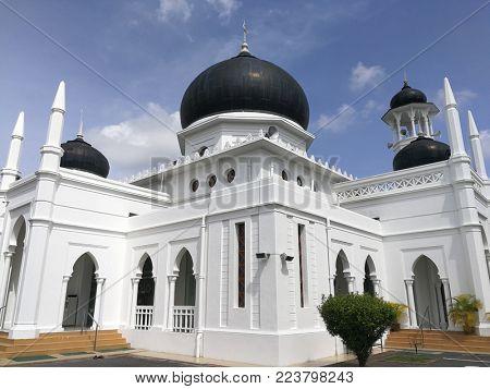 Alwi Mosque, the landmark of Perlis in Malaysia,