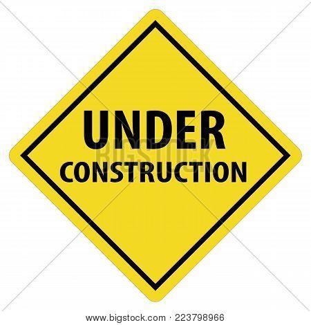 under construction icon on white background. under construction logo. vector sign under construction. flat style.