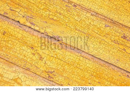 texture of old yellow wall diagonal, the background for the underlay Internet