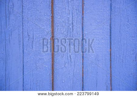 the texture of the old blue boards vertical in background for the underlay Internet