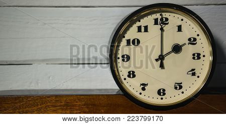 watch, vintage retro two o'clock in the morning and evening time