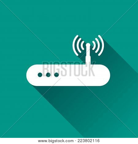 Illustration of router icon design with shadow