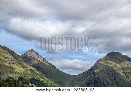 Highland hills in Glen Etive by Glencoe, Lochaber, Scotland