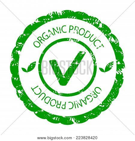 Organic Product Green Stamp Seal