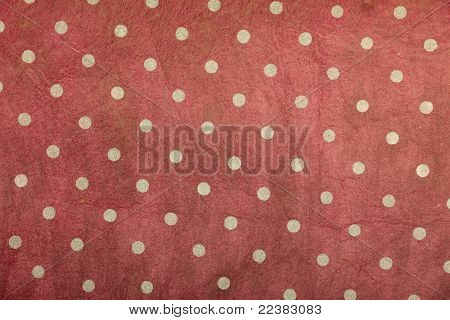 red shaded polka dotted handmade art paper