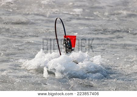 Winter fishing tackle for live-bait fishing on the ice of lake