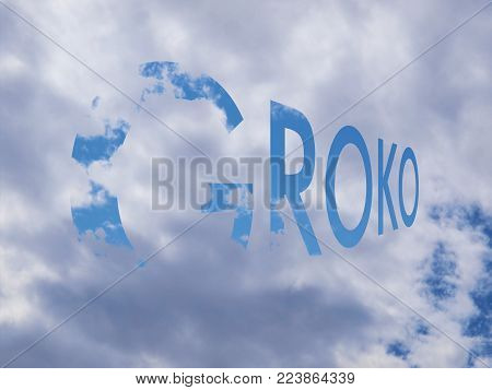 Groko, Short For Grosse Koalition In German (meaning Grand Coalition), Written As Blue Sky Letters O