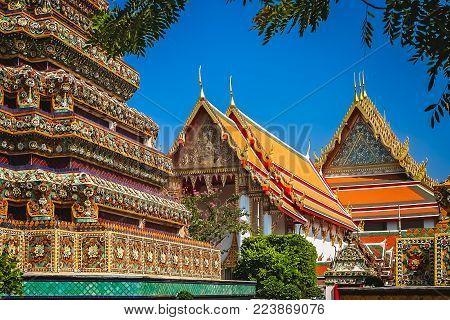 Grand Palace complex in Bangkok, former residence of Thai King and royalty, Thailand, Asia