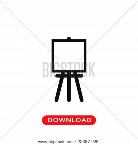 Paint easel icon vector in modern flat style for web, graphic and mobile design. Paint easel icon vector isolated on white background. Paint easel icon vector illustration, editable stroke and EPS10. Paint easel icon vector simple symbol for app, logo, UI