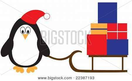 Penguin with presents