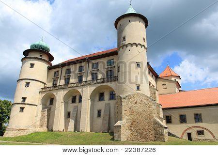 Poland architecture - castle in Nowy Wisnicz (Lesser Poland - Malopolska region). poster