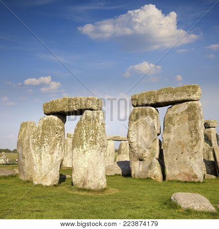 Stonehenge Wiltshire England UK, with giant lintels over stones.