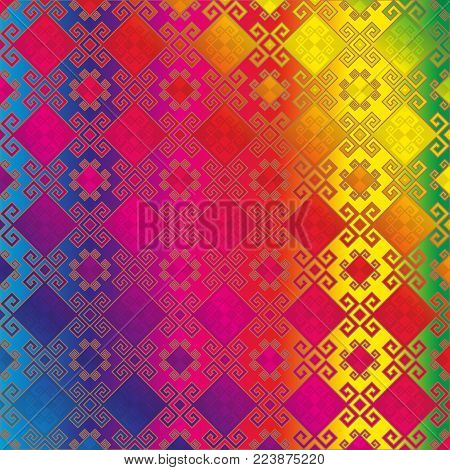 Image background seamless pattern in multicolour tones.