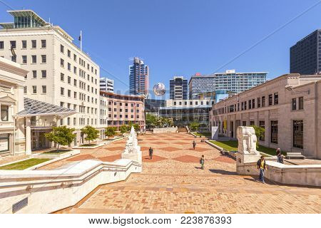 21 November 2012: Wellington, New Zealand - View of Civic Square, Wellington, New Zealand.