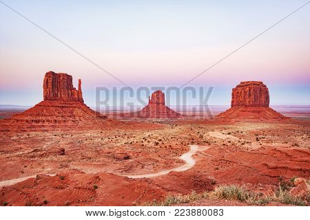 Merrick Butte and the Mitten Buttes, Monument Valley, Arizona, USA