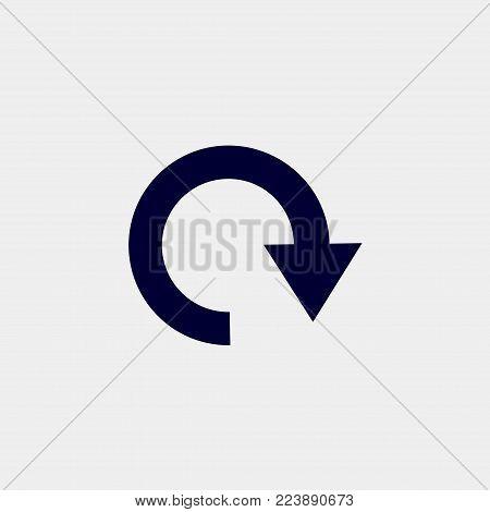 reload icon, vector illustration. circle icon vector