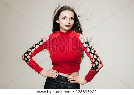 Brunette Girl Portrait