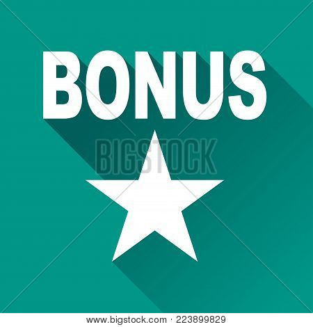 Illustration of bonus design icon with shadow