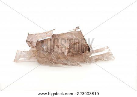smoky quartz crystal mineral sample, a rare earth mineral