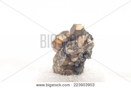 iron pyrite metal, fool's gold mineral sample