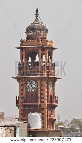 Ghanta Ghar (clock Tower) At Downtown In Jodhpur, India.