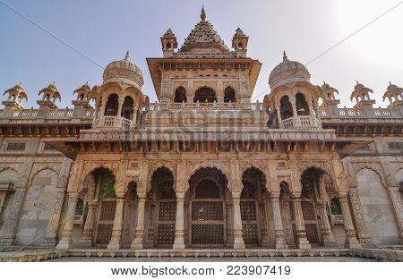 Marble Hall Of Jaswant Thada In Jodhpur, India. Jaswant Thada Was Built By Maharaja Sardar Singh Of