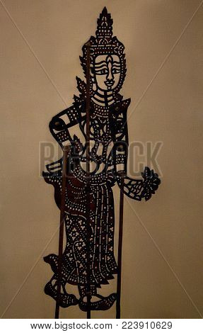 Wayang kulit or Shadow puppets typical of Java, Indonesia.