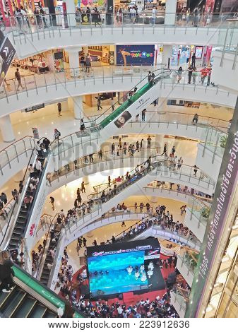 Bangkok, Thailand - January 26, 2018 : Indoor Japan expo event at Central world