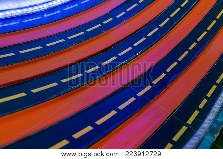 Multi Racing Lanes With Led Light For Kid Toy Car Racing