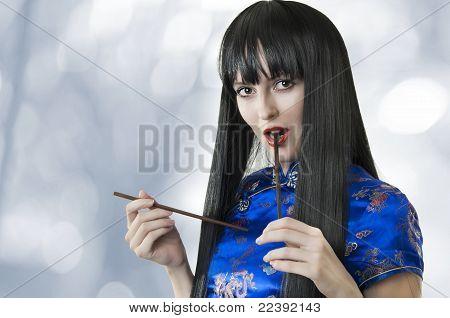 Beauty Portrait Of Happy Fashion Woman
