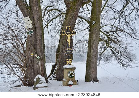 historical religious monument. South Bohemia, Czech Republic