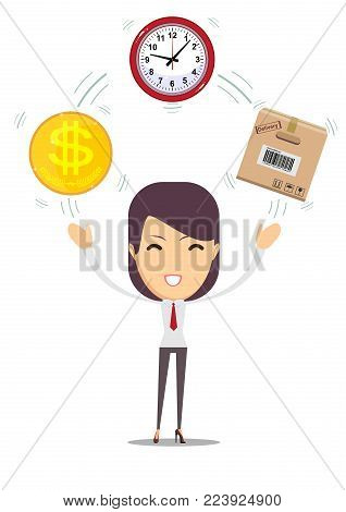 Postal fast service - fast transfer.Time is money, financial investments, fast transfers color vector illustration design. Business and finance design for web banners and apps