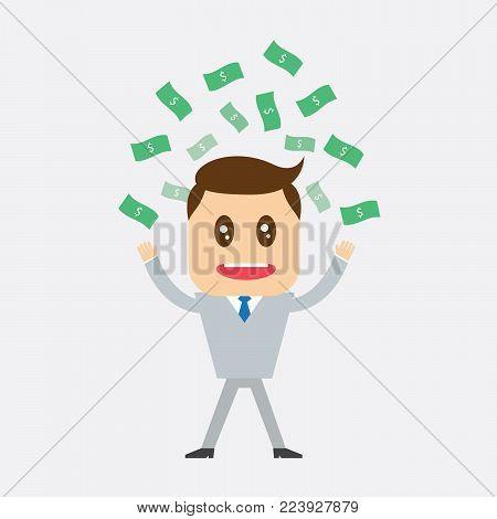 Businessman Salary variation, business success - vector illustration