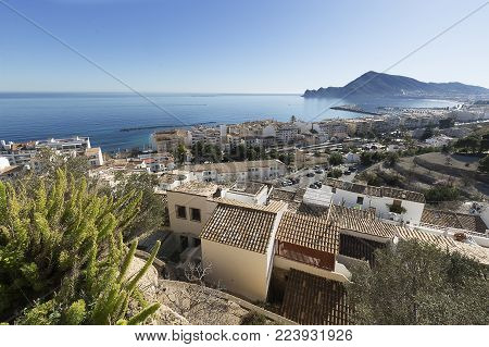 Views Of The Beautiful Town Of Altea.