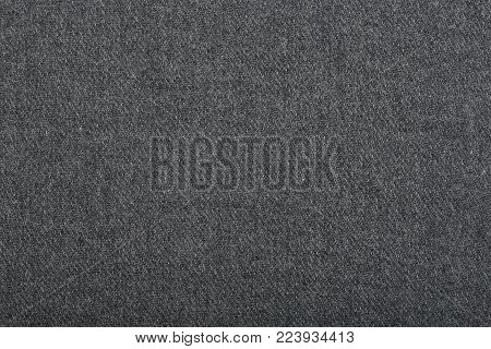 Knitted Woolen Fabric Texture, Abstract Background. Close-up Of Jersey Fabric Textured Cloth Backgro