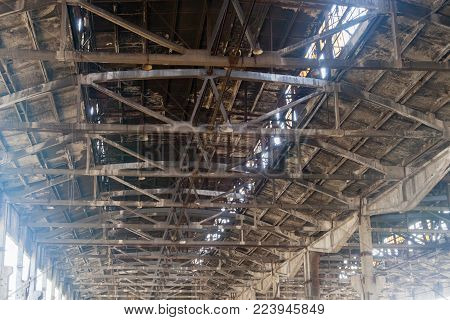 Metal Design Of A Framework Of A Roof Of The Room
